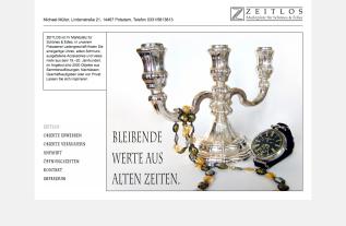 Webseite Zeitlos Antiquitäten