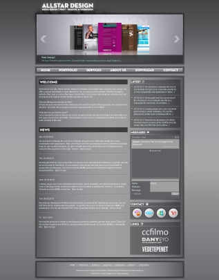 Portfolio Website Allstar-Design