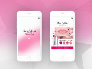 Dior Interactive WipeAd